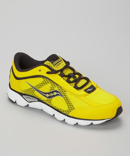 Black & Yellow B Virrata Running Shoe - Kids
