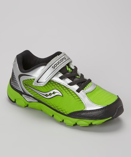 Green Slime & Gray Virrata Running Shoe - Kids