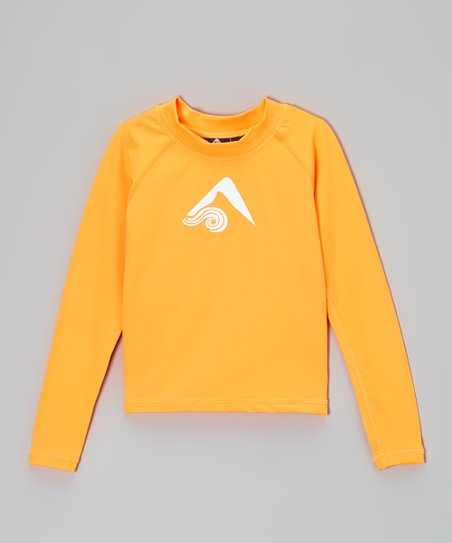 Neon Orange Platinum Rashguard - Toddler & Boys