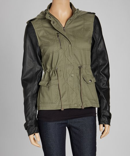Olive Pocketed Jacket - Women