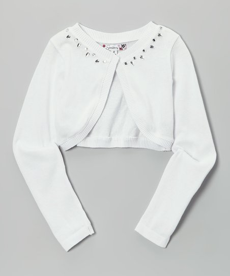 White Rhinestone Shrug