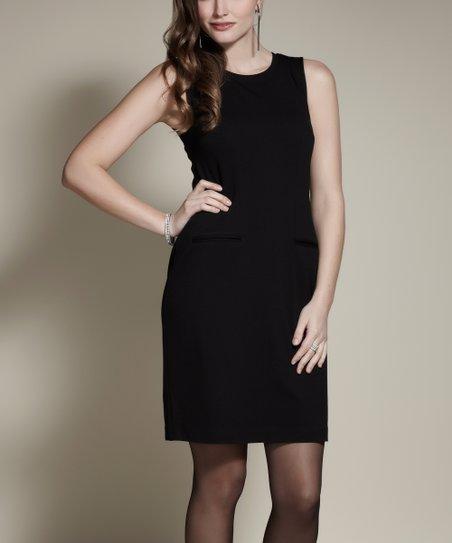 Black Crewneck Dress