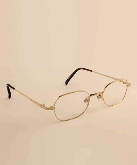 Gold Thin Frame 47 mm Eyeglasses