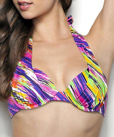 Viva la Vida Viona Full-Coverage Halter Bikini Top