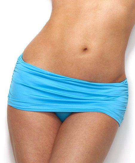 Amalfi Blue Monroe Skirted Bikini Bottoms