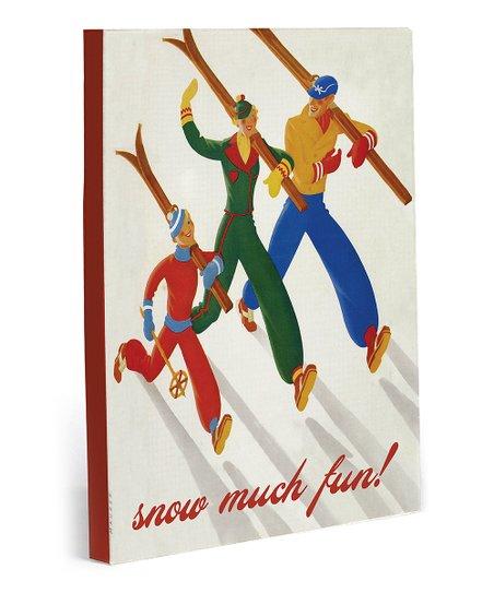'Snow Much Fun' Canvas Wall Art