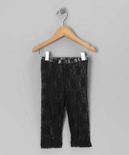 Black Lace Capri Leggings - Toddler &amp; Girls