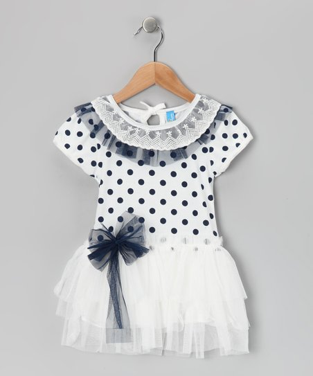 White Polka Dot Dress - Toddler &amp; Girls
