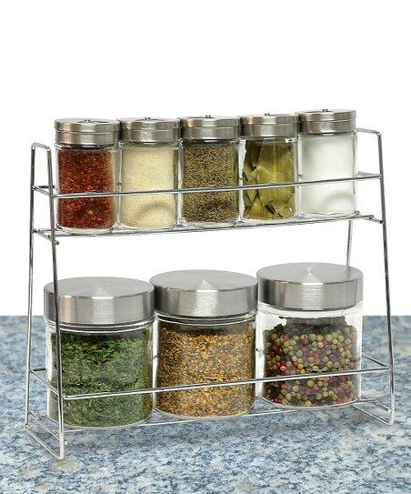 Spice Bottle & Glass Canister Set