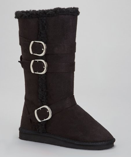 Black Utha Buckle Boot