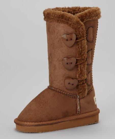 Chestnut Triple-Heart Toggle Boot