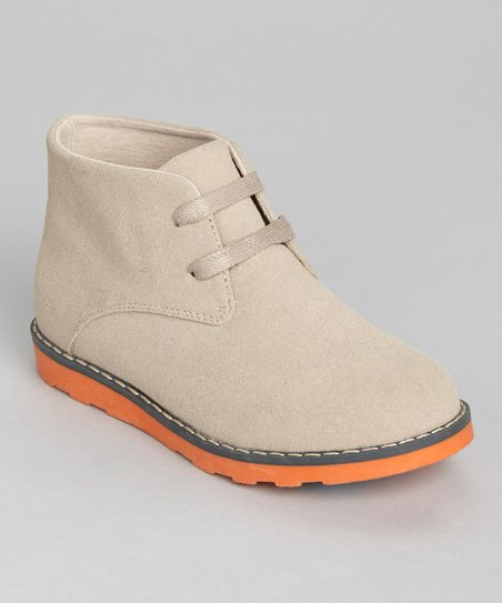 Natural & Orange Suede Chukka Boot