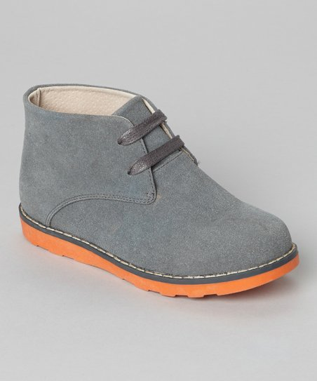Gray & Orange Suede Chukka Boot
