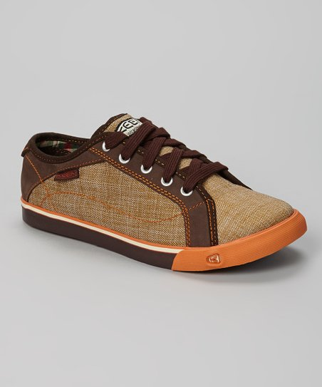 Brown & Orange Arcata Y Sneaker - Kids