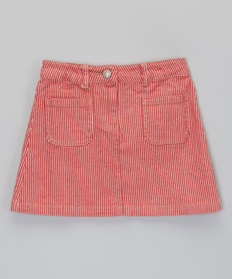 Red Stripe Skirt - Girls