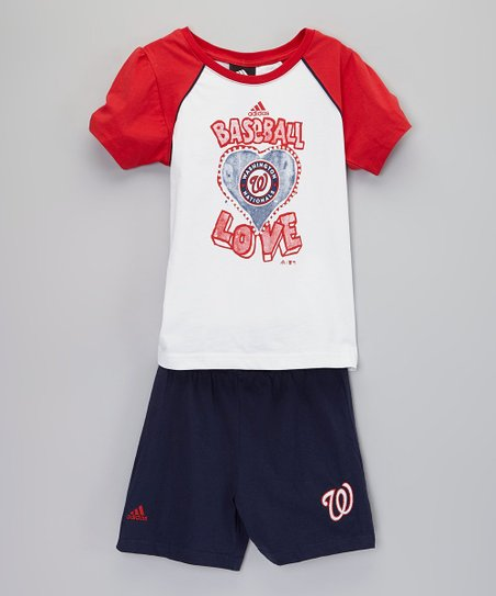 Washington Nationals Raglan Tee & Shorts - Boys