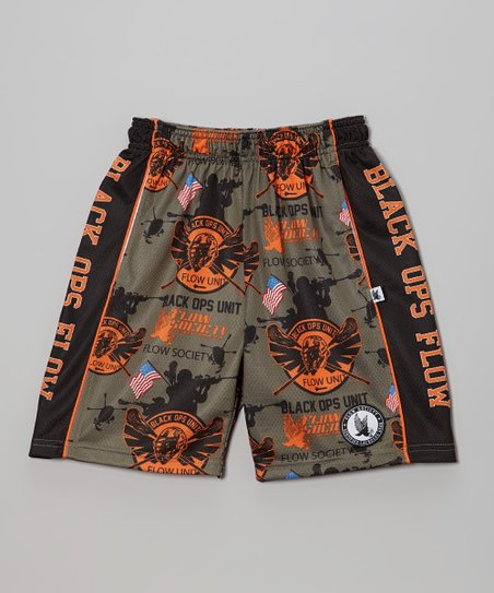 Dusky Green 'Black Ops Flow' Lacrosse Shorts - Boys