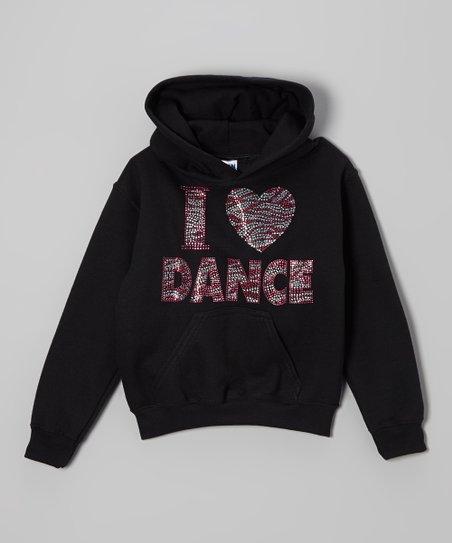 Black & Pink 'I Love Dance' Hoodie – Toddler & Girls