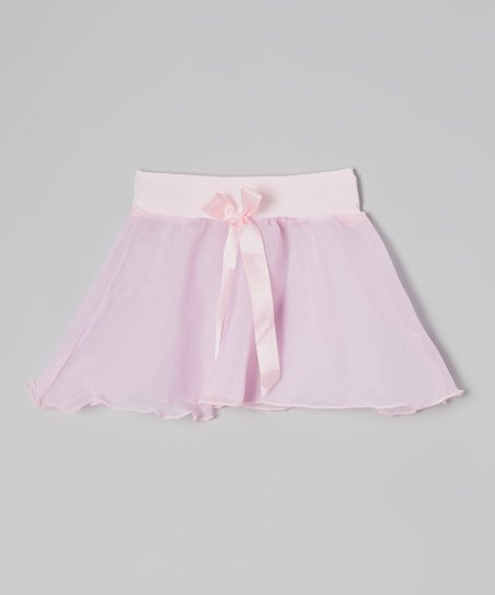 Pink Bow Georgette Skirt - Girls