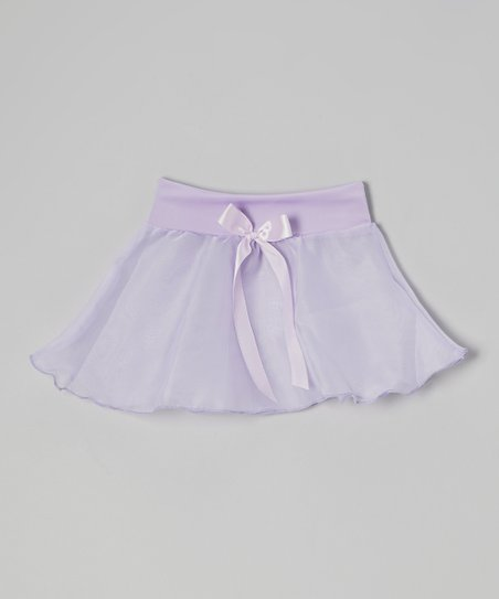 Lilac Bow Georgette Skirt - Girls
