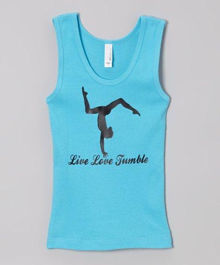 Blue 'Live Love Tumble' Tank – Girls
