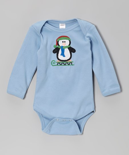 Blue Sled Penguin Bodysuit - Infant