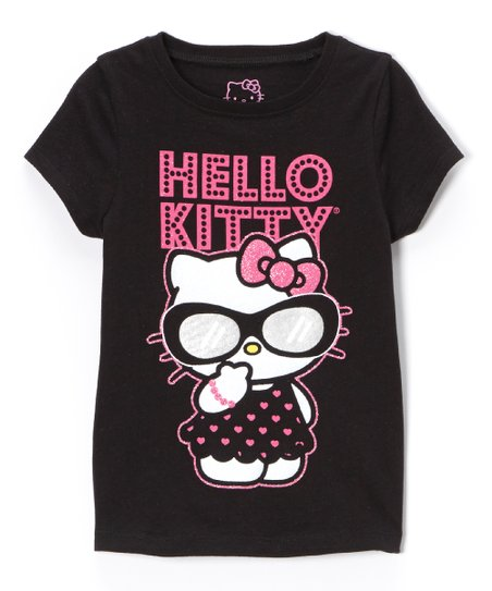 Black & Pink 'Hello Kitty' Tee - Toddler & Girls