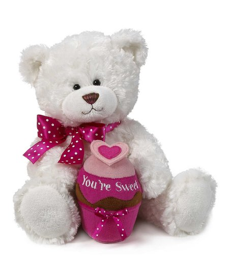 White 'You're Sweet' Bear Plush Toy