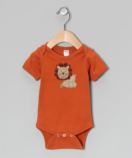 Orange Lion Bodysuit - Infant