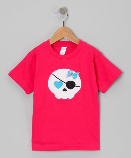 Fuchsia Pirate Skull Tee - Toddler