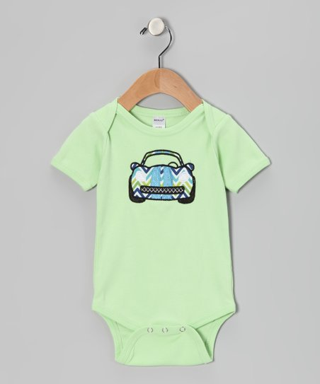 Green Racecar Bodysuit - Infant