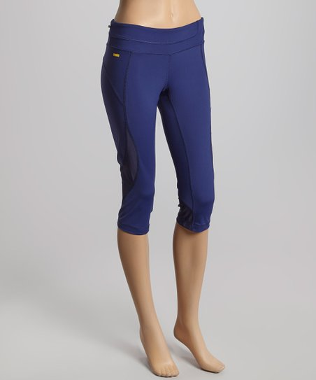 Evening Blue Accent Capri Pants