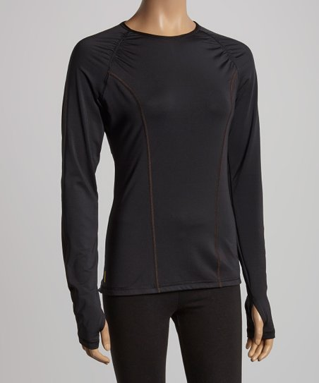 Black Lovely Ruched Top