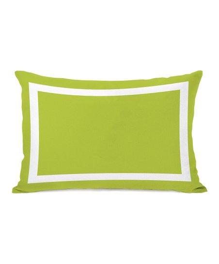 Rectangular Lime Green Samantha Pillow