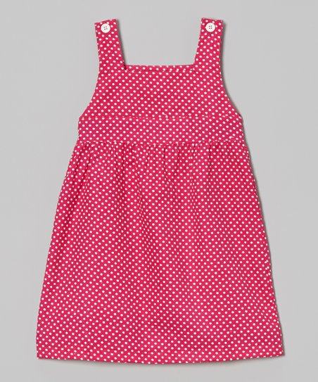 Hot Pink & White Polka Dot Jumper - Infant, Toddler & Girls