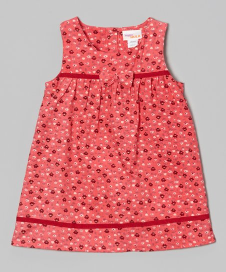 Hot Pink Flower Bow Dress - Infant