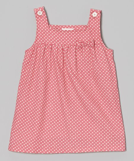 Pink & White Polka Dot Bow Jumper - Infant