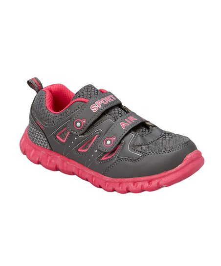 Gray & Fuschia Sport Air Running Shoes