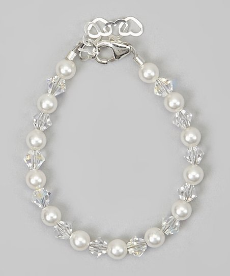 White & Clear Crystal Bracelet
