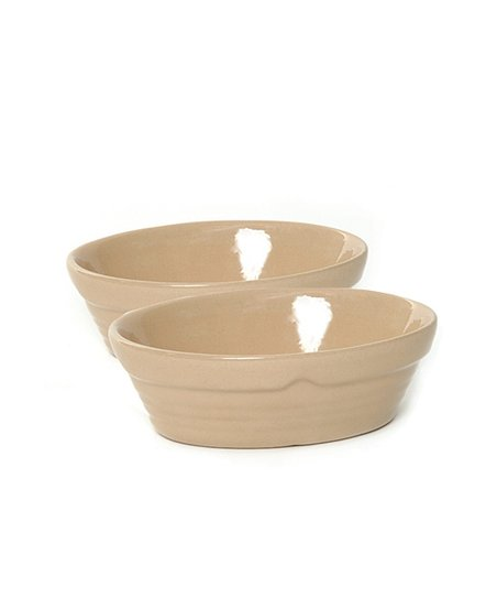 Cane 2-Cup Oval Baker - Set of Two