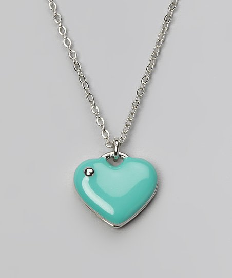 Blue & Silver Heart Necklace