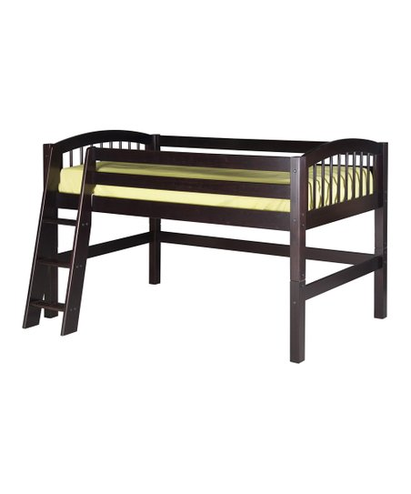 Cappuccino Arch Spindle Low Loft Bed