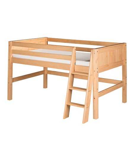 Natural Panel Low Loft Bed