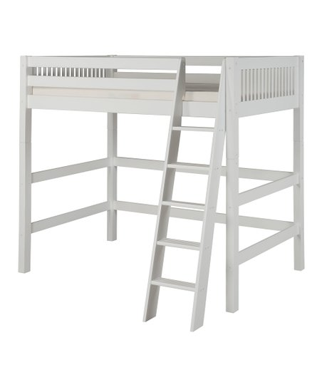 White Mission High Loft Bed
