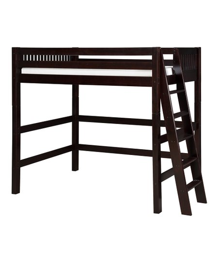 Cappuccino Mission Lateral Ladder High Loft Bed