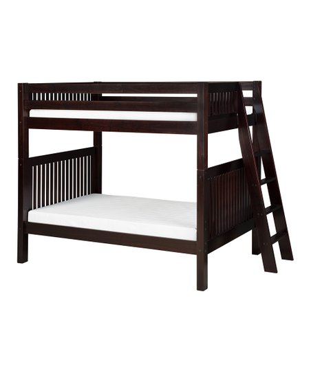 Cappuccino Mission Lateral Angle Ladder Bunk Bed