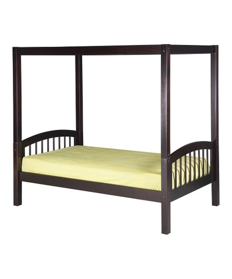 Cappuccino Arch Spindle Canopy Bed