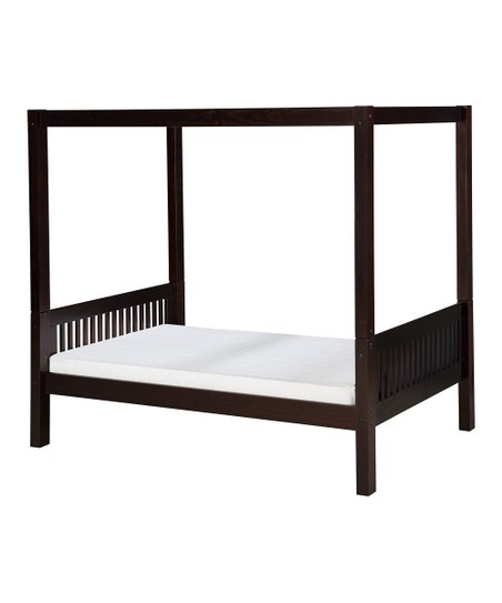 Cappuccino Mission Canopy Bed