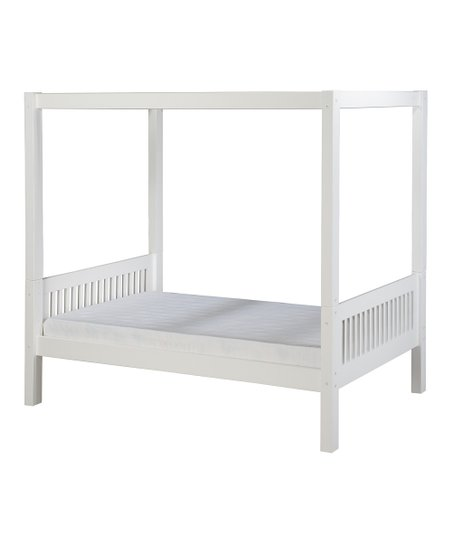 White Mission Canopy Bed