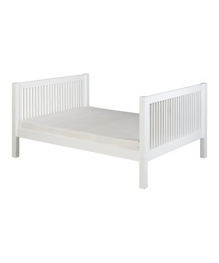 White Mission Tall Full Platform Bed